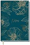 Notizbuch A5 liniert [Goldblüte] von Trendstuff by Häfft | 126 Seiten | ideal als Tagebuch, Bullet Journal, Ideenbuch, Schreibheft | nachhaltig & klimaneutral