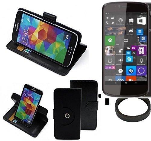 K-S-Trade® Case Schutz Hülle Für Archos 50 Cesium + Bumper Handyhülle Flipcase Smartphone Cover Handy Schutz Tasche Walletcase Schwarz (1x)