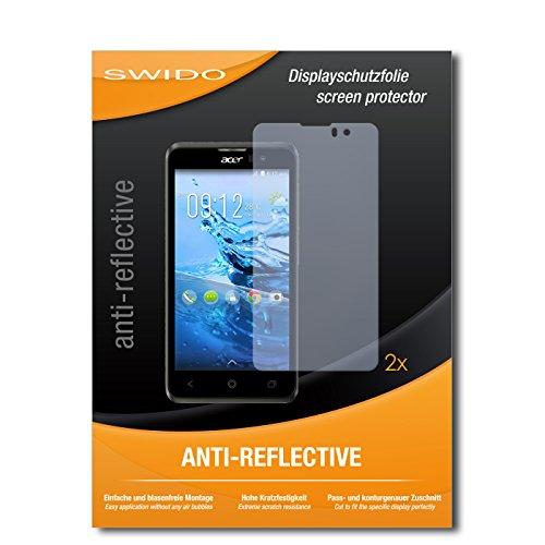 SWIDO Schutzfolie für Acer Liquid Z520 Plus [2 Stück] Anti-Reflex MATT Entspiegelnd, Hoher Festigkeitgrad, Schutz vor Kratzer/Bildschirmschutz, Bildschirmschutzfolie, Panzerglas-Folie