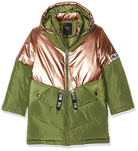NAME IT Mädchen NKFMUSIC Long Puffer Jacket Jacke, Mehrfarbig (Winter Moss Winter Moss), (Herstellergröße: 140)