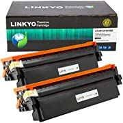 LINKYO Compatible Toner Cartridge Replacement for HP 410X 410A CF410X (Black, High Yield, 2-Pack)