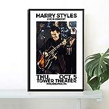 Flduod Art décor Harry Style World Music Tour Live Star Chanteur Mur Art Toile Peinture Soie Affiche décor à la Maison