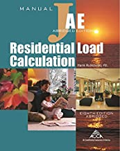 Residential Load Calculation Manual J®, Abridged Edition PDF