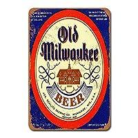オールドミルウォーキービール 金属板ブリキ看板警告サイン注意サイン表示パネル情報サイン金属安全サイン