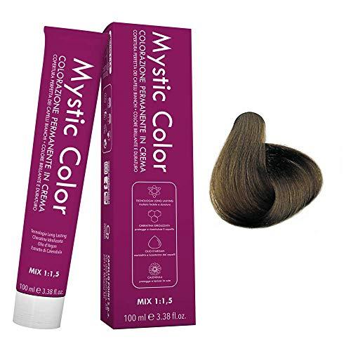 Mystic Color - Colore Biondo Freddo 7.11 - Tinta per Capelli - Colorazione Professionale in Crema a Lunga Durata - Con Cheratina Idrolizzata, Olio di Argan e Calendula - 100 ml