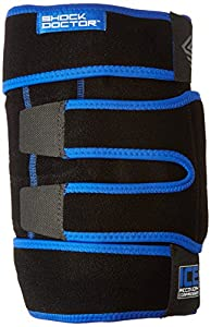 Anatomically designed with adjustable straps and multiple gel ice packs, this is the most complete icing solution for knee bruises, strains, sprains, and tendonitis. The penetrating therapy helps reduce swelling and pain with gentle compression and d...