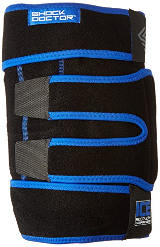 Shock Doctor ICE Pack Recovery Compression Knee Wrap Brace, Small/Medium, Black