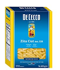 Contains 5-16 oz boxes 100% Durum Wheat Semolina Made in Italy Cooking time: 11 min - Al dente: 9 min Shaped through Bronze Dies to create a rough surface to better retain sauce Slowly Dried at low Temperature to Preserve Nutritional Properties. GMO ...