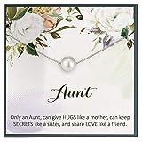 Grace of Pearl Idea de regalo de tía, joyería de tía, regalos para tía, nueva tía, regalos de tía, mejor tía,...