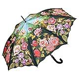 VON LILIENFELD Paraguas de Iluvia Jardín de Rosas Flor Largo Clásico Automático Grande Estable Mujer