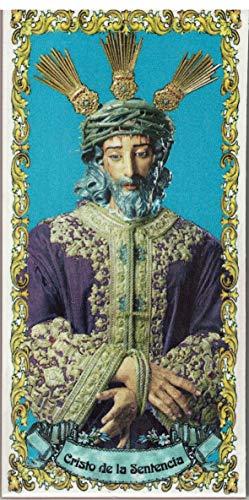 Cristo de la Sentencia (Hermandad de la Macarena - Sevilla). Azulejo fabricado artesanalmente para decorar. Cerámica para colgar. Calca cerámica (7x15 cms)