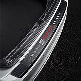 Fibra Carbono Coche Trasero Protección para Parachoques Maletero Placa del Umbral Pegatinas Antirrayas Tira Protección Accesorios, para Seat Leon 5f Ibiza 6l 6j Leon 1p Cushion Altea Xl Leon Mk3