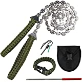 BLIKA 36 Inches 24 Teeth Pocket Chainsaw with Paracord Handle, Folding Hand Saw Tool for Camping, Hunting, Backpacking, Mergency Kit, Fast Wood & Tree Cutting(Upgraded Version)