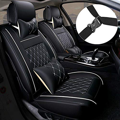 MAGQOO Universal PU Leather Car Seat Cover Full Set 5-Seat Front New Hampshire