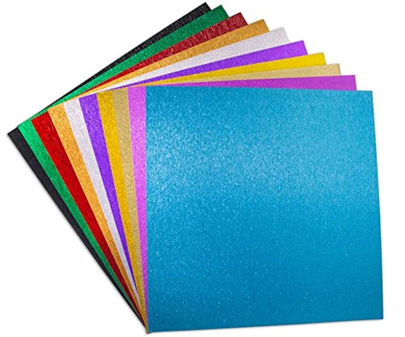 Brushed Metal Paper, 120 GSM, (Combo Pack-10 Sheets) - 12