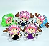 yskcsry 5 Unids / Set One Piece Chopper Dolls Peluches De Peluche para Niños Niños Niñas Niños 22Cm