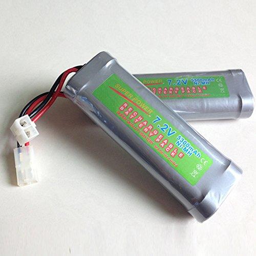 DishyKooker Wiederaufladbare Batterie 7,2 V NI-MH-Batterien Langlebige Batterie große Kapazität für RC-Elektromodell Elektronisches Spielzeug usw Spaß für Geschenke verwendet Werden 4600mAh