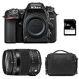 Nikon D7500 + Sigma 18-200 Macro OS HSM Contemporary + Sac + Carte SD 4Go