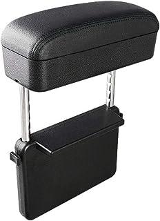 日産 自動車用 ひじ掛けサポート アームレストサポート 汎用 小物収納ボックス ストレッチ式 1個 LFOTPP (黒(黒ステッチ))