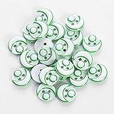 Egurs 48 UNIDS Niños Lindo 2 Agujeros Botones de Color Botones de la Camisa de Resina para DIY Costura Verde 03