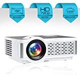 Egate I9 Real HD 720p (1080p Support) | 2400 L (225 ANSI ) with 150 ' (3.8 m) Large Display LED Projector | VGA , AV, HDMI , SD Card , USB, Audio Out Connectivity | (E03i31) (White)