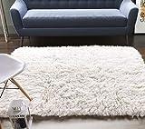 Super Area Rugs Organic Wool Greek Flokati Rug, Natural, 5' x 7'