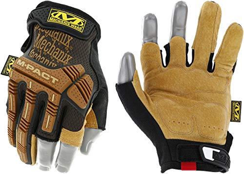 Mechanix Wear: M-Pact Leather Framer Work Gloves (Large, Brown/Black)