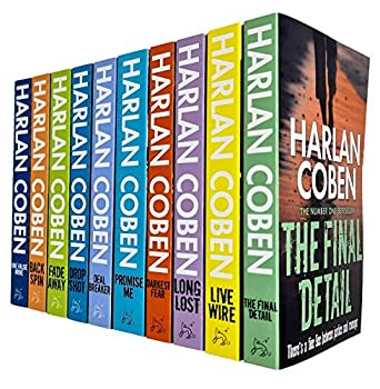 Harlan Coben Myron Bolitar Series Collection 1-10 Books Set  Deal Breaker Drop Shot Fade Away Back Spin One False Move The Final Detail Darkest Fear Promise Me Long Lost Live Wire