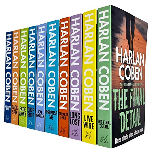 Harlan Coben Myron Bolitar Series Collection 1-10 Books Set (Deal Breaker, Drop Shot, Fade Away, Back Spin, One False Move, The Final Detail, Darkest Fear, Promise Me, Long Lost, Live Wire)