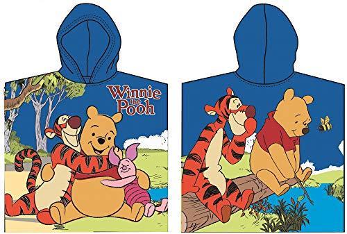 Disney Winnie Pooh - Toalla con capucha (60 x 120 cm), color azul oscuro