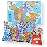 Waypoint Geographic Canada ScrunchMap - Easy to Store Map with Storage Bag (24' H x 36' W)