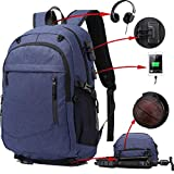 KOLAKO Basketball Laptop Backpack, Casual Sports Soccer Backpacks, Water Resistant Travel College School Bookbag, Computer Bag for Men Women with USB Charging Port, Fit 17.3 Inch Laptop