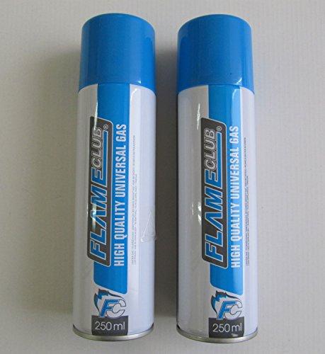 Cartucho de gas 140 gr - pack de 2 cartuchos - Recargador universal de alta calidad 250 ml