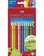 Faber-Castell 110912renkli Jumbo Grip (dahil kalemtıraş) 12'li KARTONETUI