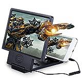 RENNICOCO 3D Screen Magnifier Amplificatore Video HD con Supporto Pieghevole per Qualsiasi Smartphone, iPhone 6 6plus 5s Sumsung Galaxy S6 S5 S4 S3 Proteggi Occhi