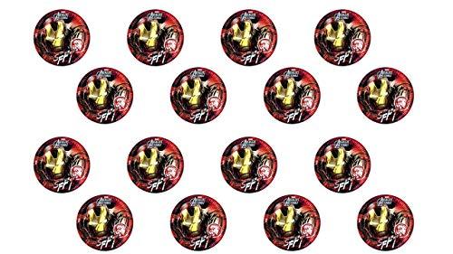 3328; lote de 2 paquetes de 8 platos de cartón AVENGERS - IRONMAN (TEEN); diametro 23cm; ideal para fiestas y cumpleaños