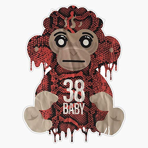 LAD Studio Youngboy Never Broke Again Colorful Monkey Gear, 38 Baby Merch NBA Classic Sticker Vinyl Bumper Sticker Decal Waterproof 5""