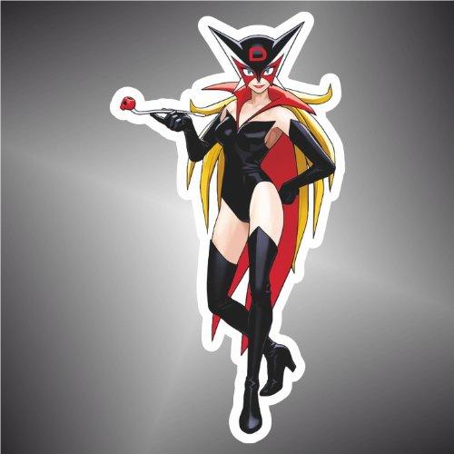 Adesivo Yattaman Miss Doronjo dronio Manga Anime Sticker