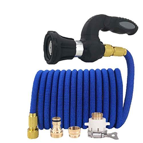 JS Leistungsstarker Power Hose Blaster Feuerwehrmann Düse Rasengarten(Size:Blau,Color:50ft-15m,Colorsize:Blau)