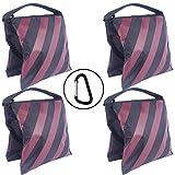 ABCCANOPY SANDBAG SADDLEBAG Design 4 Gewichte Taschen für Fotostudio-Ständer Burgundy-2