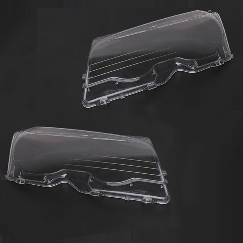 Tickas Headlight Len Cover One Pair of Headlight Clear Cover Headlamp Lense Lens Front Headlamp Lens Replacemnt for BMW E46 2DR M3 325Ci 01-06 Base Coupe 2 Door 1999-03