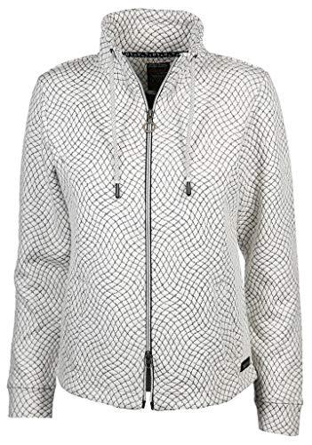 soquesto Damen Sweatjacke Größe XL Schwarz (schwarz/weiß)