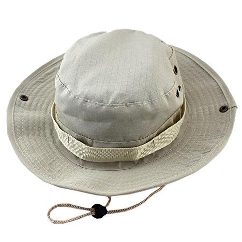 DELEY les Sports de plein air Boonie Hat Cap Camouflage Militaire de Chapeau de Seau de Voyage Bois Chapeau de Pêche 06