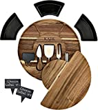 11 Piece Charcuterie Board Set, Ideal Size Wooden Cheese Board and Knife Set. Beautiful Cheese Board Set Platter Tray, Serving Board or Cheese Cutting Board. Small Wood Cheeseboard, Not Bamboo Board.