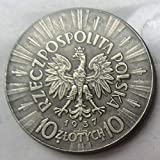 Chaenyu Polonia 10 zloty 1934-1939 6 Tipos de copias Monedas conmemorativas decoración souvenirs-1937