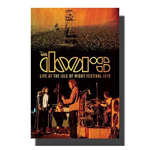 chtshjdtb Die Türen Jim Morrison heiße Musik Poster Art Leinwand Malerei Druck Dekoration Raumwand Bild -50x75cm Kein Rahmen