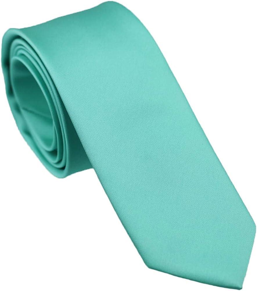 Coachella Ties Mint Aqua Turquoise Green Solid Color Necktie+bowtie+Hanky Set