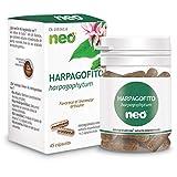 NEO | Extracto Seco de Raíz de Harpagofito 200 mg | 45 Cápsulas Naturales | Con Acción Analgésica y Antiinflamatoria | Libre de Alérgenos y GMO | Tomar de 1 a 2 Cápsulas a Día | Liberación Rápida