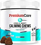 PremiumCare Calming Treats for Dogs - Made In USA - Helps With Dog Anxiety, Separation, Barking, Stress Relief, Thunderstorms and More - Natural Calming Relaxer for Aggressive Behavior - 120 Chews