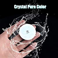 Mei-YY コースター ラウンド超薄型LEDライトコースターカクテルコースタードリンクコースターフラッシュバーバーテンダー照明ベースランプアクリルクリスタル 収纳 (Color : Colorful 3pcs)